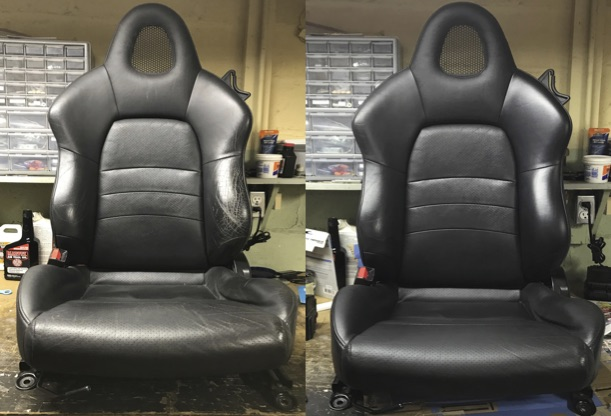 car seat black before/after