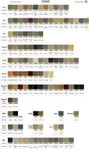 Carpet Color Chart