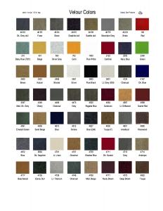 VCC - Velour Color Chart